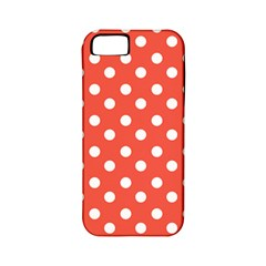 Indian Red Polka Dots Apple Iphone 5 Classic Hardshell Case (pc+silicone) by creativemom
