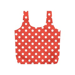 Indian Red Polka Dots Full Print Recycle Bags (S)  by creativemom
