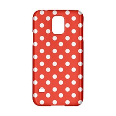 Indian Red Polka Dots Samsung Galaxy S5 Hardshell Case  by creativemom