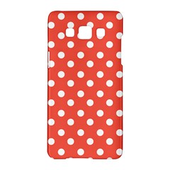 Indian Red Polka Dots Samsung Galaxy A5 Hardshell Case  by creativemom