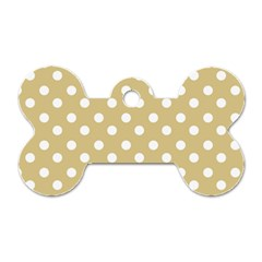 Mint Polka And White Polka Dots Dog Tag Bone (two Sides) by creativemom