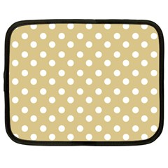 Mint Polka And White Polka Dots Netbook Case (large) by creativemom