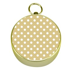 Mint Polka And White Polka Dots Gold Compasses by creativemom