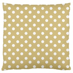 Mint Polka And White Polka Dots Standard Flano Cushion Cases (One Side)  by creativemom