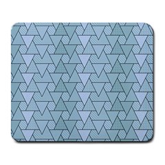 Geo Fun 7 Light Blue Large Mousepads by MoreColorsinLife