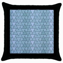Geo Fun 7 Light Blue Throw Pillow Cases (black) by MoreColorsinLife