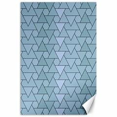 Geo Fun 7 Light Blue Canvas 24  X 36  by MoreColorsinLife