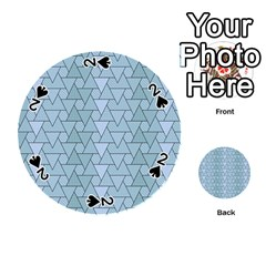 Geo Fun 7 Light Blue Playing Cards 54 (Round)  by MoreColorsinLife