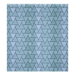 Geo Fun 7 Light Blue Shower Curtain 66  X 72  (large)  by MoreColorsinLife