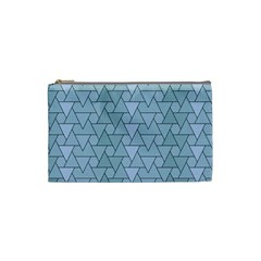 Geo Fun 7 Light Blue Cosmetic Bag (small)  by MoreColorsinLife