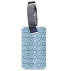 Geo Fun 7 Light Blue Luggage Tags (two Sides) by MoreColorsinLife