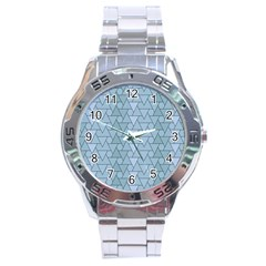 Geo Fun 7 Light Blue Stainless Steel Men s Watch by MoreColorsinLife