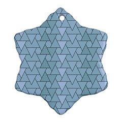 Geo Fun 7 Light Blue Ornament (snowflake)  by MoreColorsinLife
