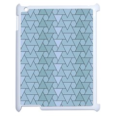 Geo Fun 7 Light Blue Apple Ipad 2 Case (white) by MoreColorsinLife