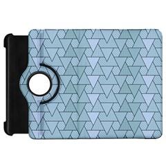 Geo Fun 7 Light Blue Kindle Fire HD Flip 360 Case by MoreColorsinLife