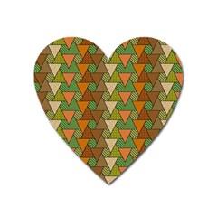 Geo Fun 7 Warm Autumn  Heart Magnet by MoreColorsinLife