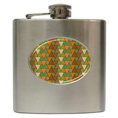 Geo Fun 7 Warm Autumn  Hip Flask (6 Oz) by MoreColorsinLife