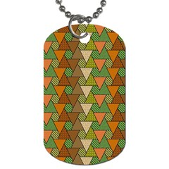 Geo Fun 7 Warm Autumn  Dog Tag (two Sides) by MoreColorsinLife