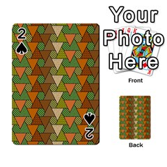 Geo Fun 7 Warm Autumn  Playing Cards 54 Designs  by MoreColorsinLife