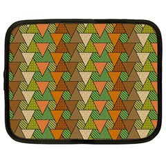 Geo Fun 7 Warm Autumn  Netbook Case (large)	 by MoreColorsinLife