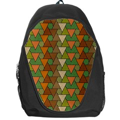 Geo Fun 7 Warm Autumn  Backpack Bag by MoreColorsinLife