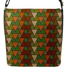 Geo Fun 7 Warm Autumn  Flap Messenger Bag (s) by MoreColorsinLife