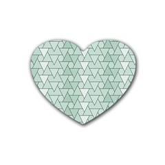 Geo Fun 7 Heart Coaster (4 pack)  by MoreColorsinLife