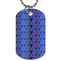 Geo Fun 7 Inky Blue Dog Tag (two Sides) by MoreColorsinLife
