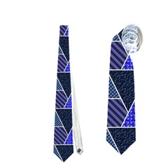 Geo Fun 7 Inky Blue Neckties (one Side)