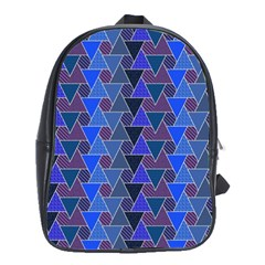 Geo Fun 7 Inky Blue School Bags(large)  by MoreColorsinLife