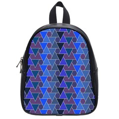 Geo Fun 7 Inky Blue School Bags (small)  by MoreColorsinLife