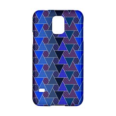Geo Fun 7 Inky Blue Samsung Galaxy S5 Hardshell Case  by MoreColorsinLife