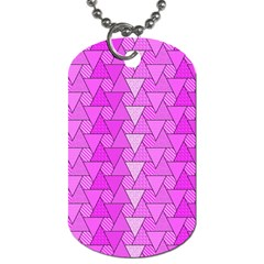 Geo Fun 7 Dog Tag (two Sides) by MoreColorsinLife