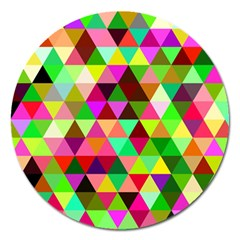 Geo Fun 07 Magnet 5  (Round) by MoreColorsinLife