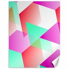 Geometric 03 Pink Canvas 12  X 16   by MoreColorsinLife