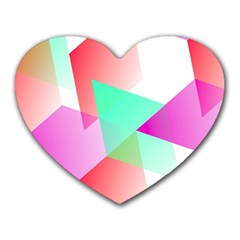 Geometric 03 Pink Heart Mousepads by MoreColorsinLife