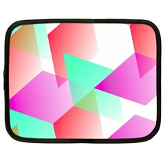 Geometric 03 Pink Netbook Case (large)	 by MoreColorsinLife