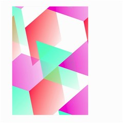 Geometric 03 Pink Large Garden Flag (Two Sides)