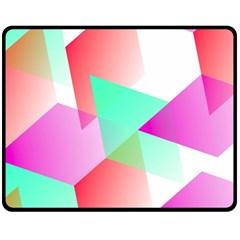 Geometric 03 Pink Double Sided Fleece Blanket (Medium)  by MoreColorsinLife