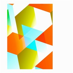 Geometric 03 Orange Small Garden Flag (two Sides) by MoreColorsinLife