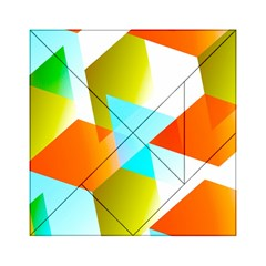 Geometric 03 Orange Acrylic Tangram Puzzle (6  X 6 ) by MoreColorsinLife