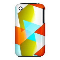 Geometric 03 Orange Apple Iphone 3g/3gs Hardshell Case (pc+silicone) by MoreColorsinLife
