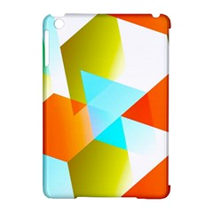 Geometric 03 Orange Apple iPad Mini Hardshell Case (Compatible with Smart Cover) by MoreColorsinLife
