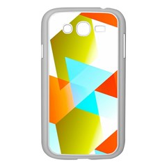 Geometric 03 Orange Samsung Galaxy Grand Duos I9082 Case (white) by MoreColorsinLife