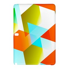 Geometric 03 Orange Samsung Galaxy Tab Pro 12 2 Hardshell Case by MoreColorsinLife