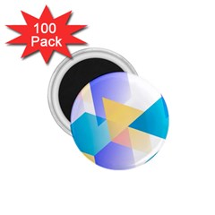 Geometric 03 Blue 1 75  Magnets (100 Pack)  by MoreColorsinLife