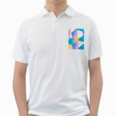 Geometric 03 Blue Golf Shirts by MoreColorsinLife