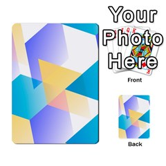 Geometric 03 Blue Multi Purpose Cards (rectangle)