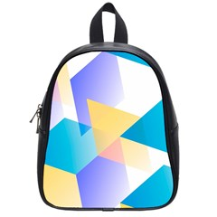 Geometric 03 Blue School Bags (small)  by MoreColorsinLife