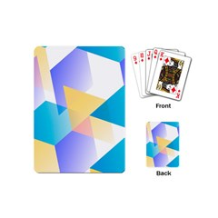Geometric 03 Blue Playing Cards (mini)  by MoreColorsinLife